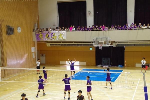 男子バレーボール部 インターハイ予選2日目 駒大会場結果
