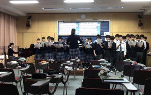 合唱発表(2学年普通科)
